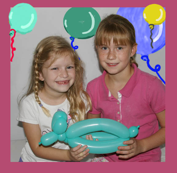 Emily & Elizabeth with Balloon Capybara