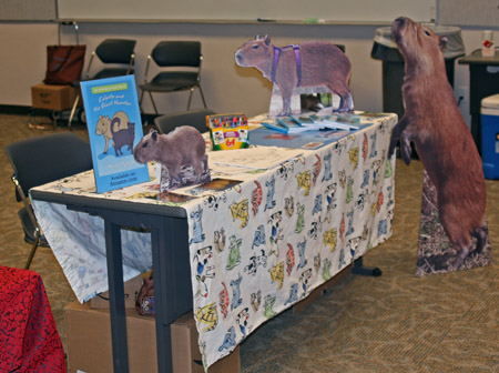 Table display for Celeste and the Giant Hamster