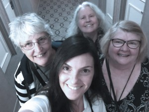 Selfie of me, Angel, Becky, and Stacy at BlogPaws 2017
